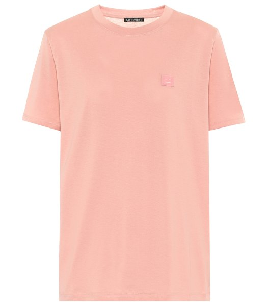 Acne Studios face cotton-jersey t-shirt in pink