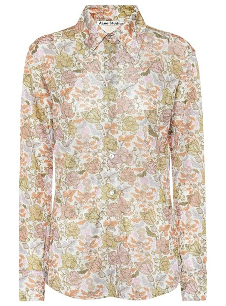 Acne Studios floral shirt in green