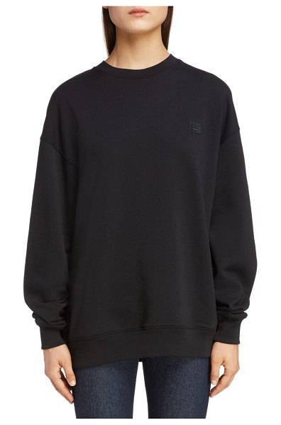 Acne Studios forba face sweatshirt in black