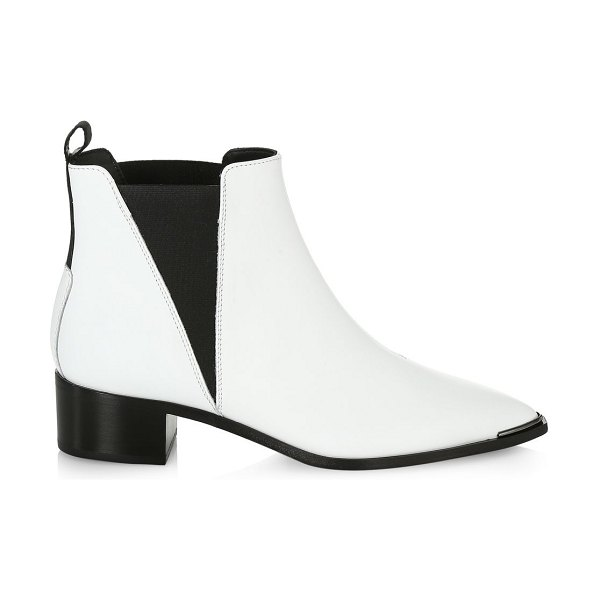 Acne Studios jensen leather ankle boots in white