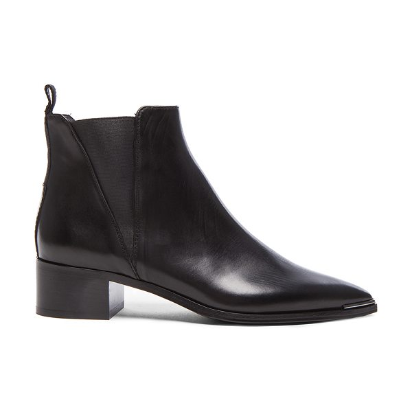 Acne Studios Leather Jensen Boots in black - Genuine leather upper and sole.  Made in Italy.  Approx...