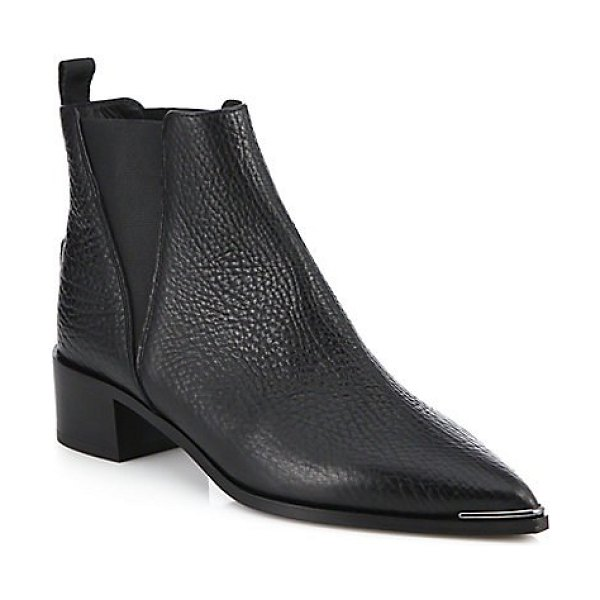 Acne Studios jensen leather ankle boots in black