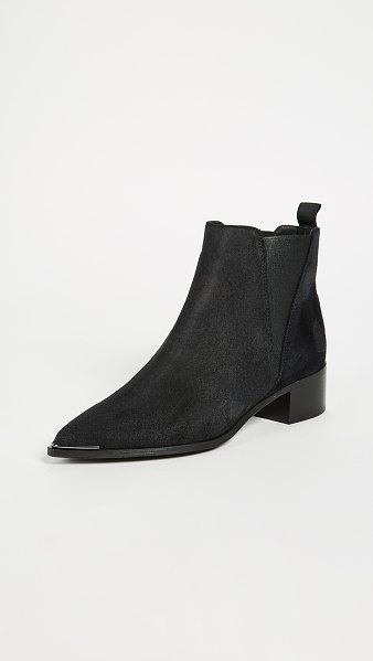 Acne Studios jensen suede booties in black