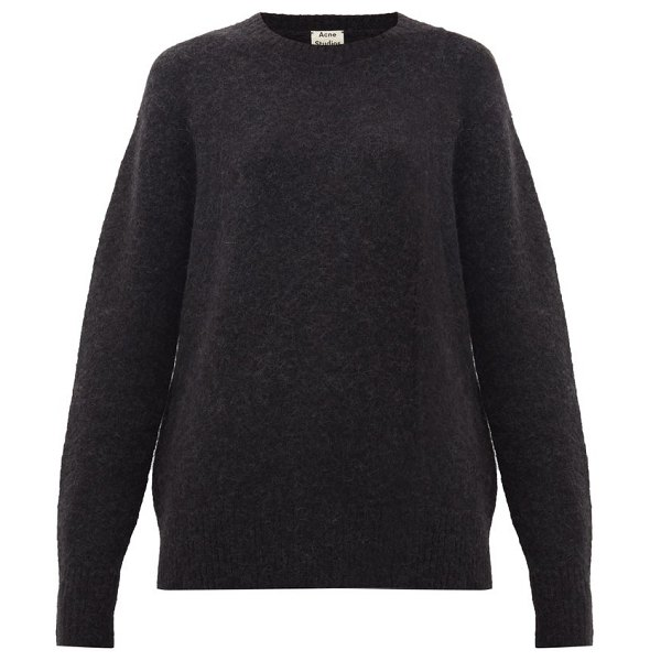 Acne Studios kerna brushed sweater in black