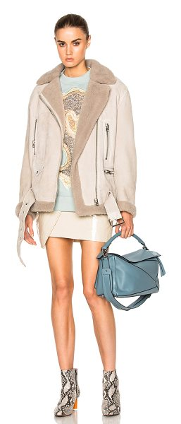 Acne Studios More She Sue in neutrals - Self: 100% real dyed sheared lamb shearling - Contrast...