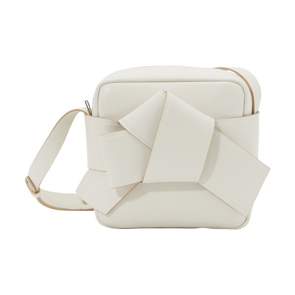 Acne Studios Musubi Camera bag in white/beige sand