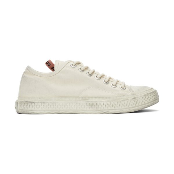 Acne Studios off-white canvas low-top sneakers in cgg offwhit
