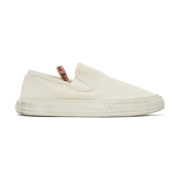 Acne Studios off-white canvas slip-on sneakers in cgg offwhit
