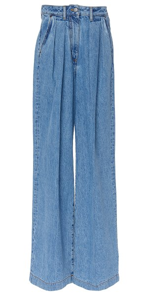 Acne Studios pakita high-rise wide-leg jeans in blue