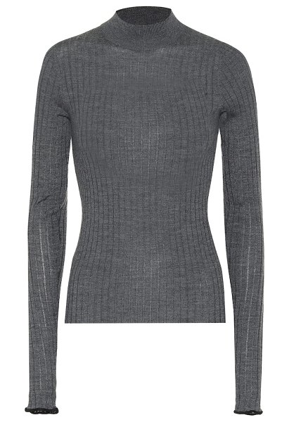 Acne Studios ribbed wool sweater in grey