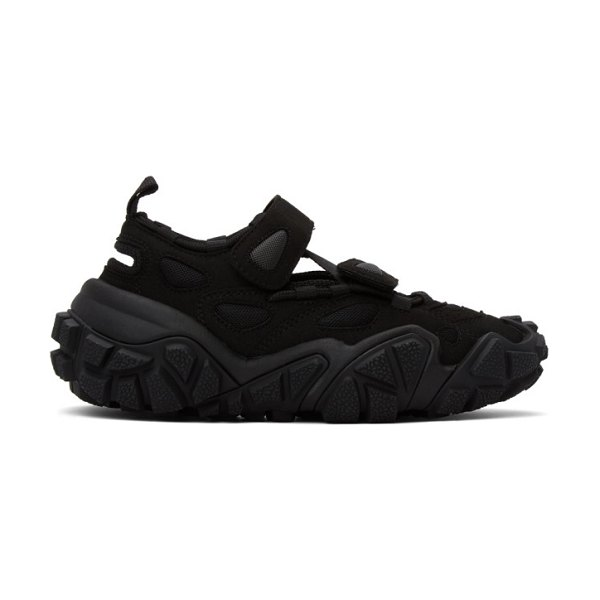 Acne Studios ssense exclusive  suede and mesh sneakers in black