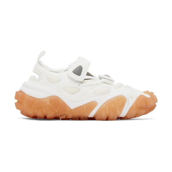 Acne Studios ssense exclusive white and pink velcro sneakers in whtorgpink