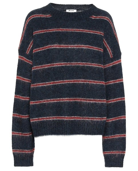 Acne Studios striped wool-blend sweater in black