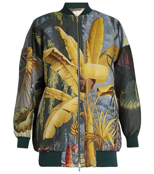 ADAM LIPPES Eden-print jacquard bomber jacket - Adam Lippes puts his own spin on the archetypal bomber...