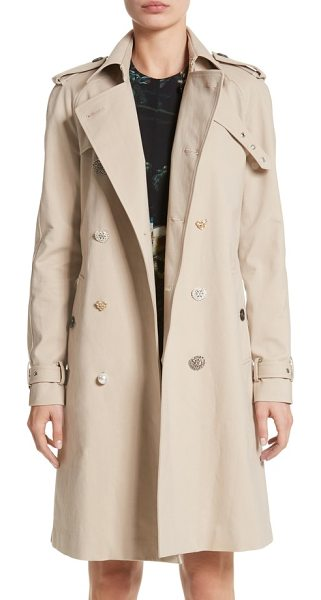 ADAM LIPPES embellished button trench coat - The classic trench coat gets an embellished update with two...