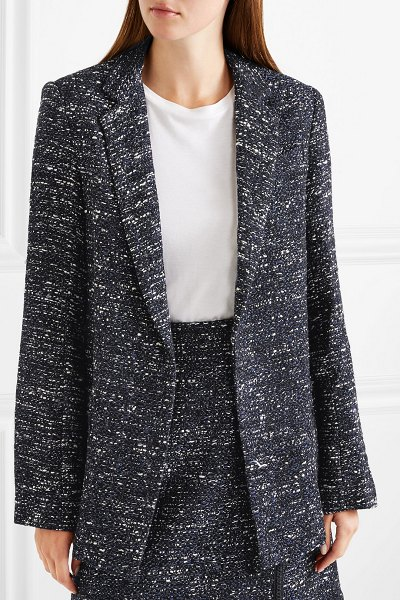 Adam Lippes tweed blazer in navy - Navigating a sea of blazers in the pursuit of the...