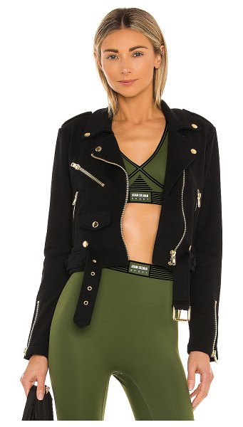 Adam Selman Sport cozy moto jacket in black