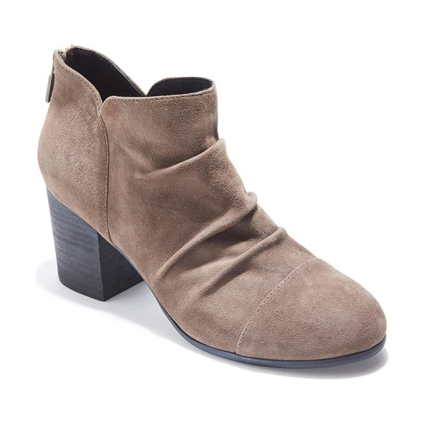 Adam Tucker by Me Too adam tucker sierra ruched bootie in grey - A slouchy silhouette adds to the fashion-forward appeal...