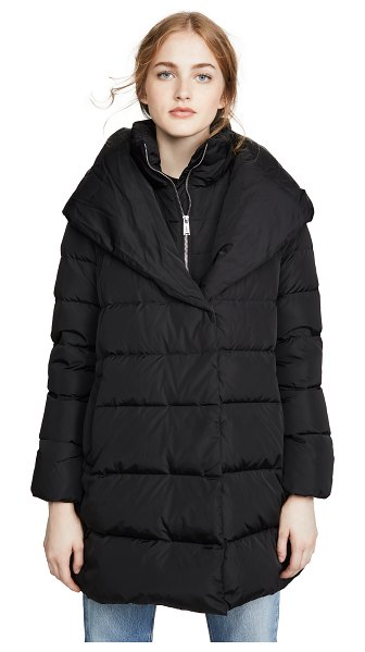Add Down hooded down coat in black