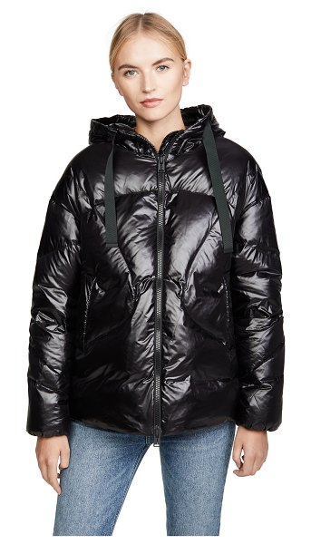 Add Down oversized hooded down jacket in black