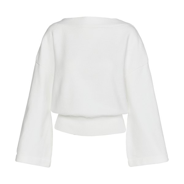 Adeam back lacing sweater in white