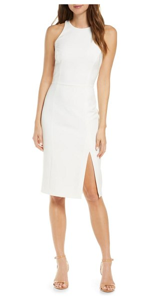Adelyn Rae tay sleeveless cocktail dress in white-nude
