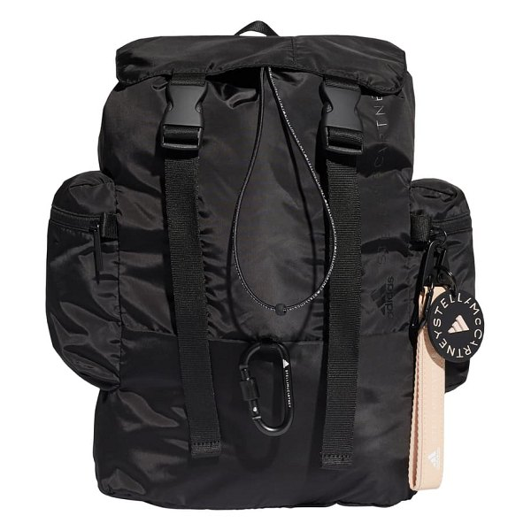 adidas by Stella McCartney backpack in black/ white/ apsior