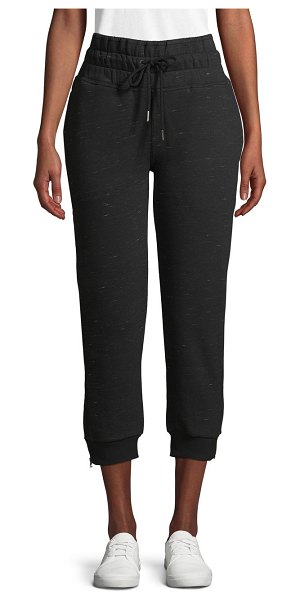 adidas by Stella McCartney Cotton-Blend Cropped Jogger Pants in black