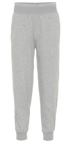 adidas by Stella McCartney cotton-blend trackpants in grey