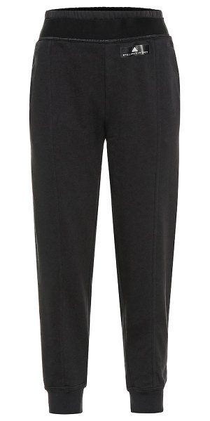 adidas by Stella McCartney cotton-blend trackpants in black