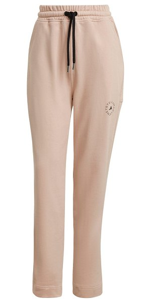 adidas by Stella McCartney cotton sweatpants in pearl rose