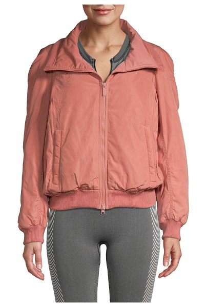 adidas by Stella McCartney Gathered-Back Full-Zip Jacket in raw pink
