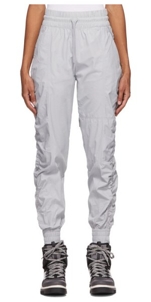 adidas by Stella McCartney grey recycled ripstop track pants in clear onix