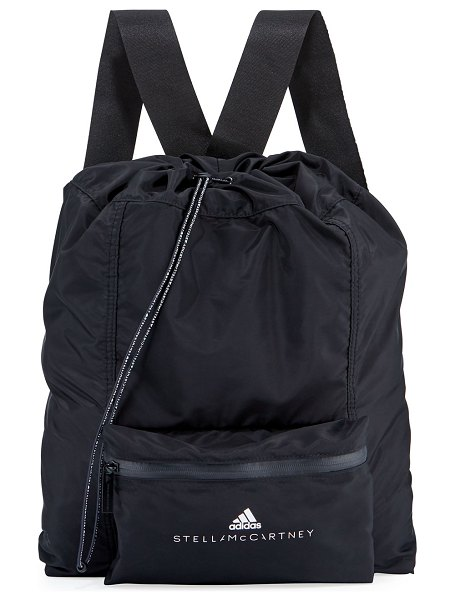 adidas by Stella McCartney Gymsack Backpack in black/white