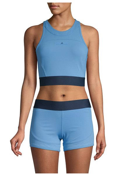 adidas by Stella McCartney Logo Cropped Top in blue