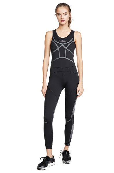 adidas by Stella McCartney train all in one jumpsuit in black