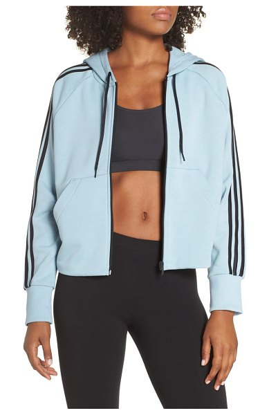 Adidas mh 3s zip hoodie in ash grey s18 - A sporty French terry hoodie that layers easily over...