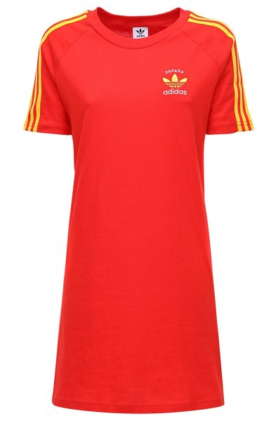 adidas Originals 3-s italy cotton t-shirt dress in red