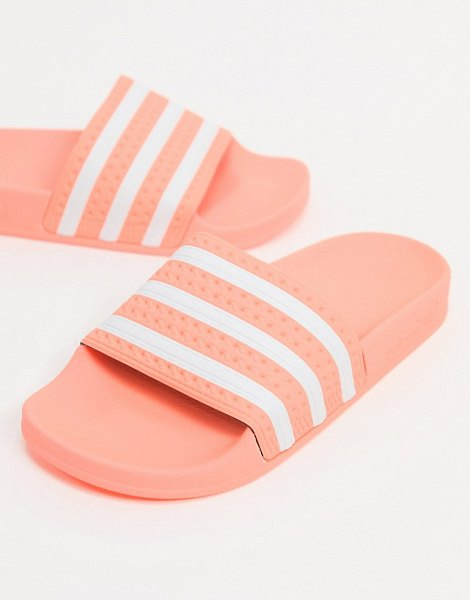 adidas Originals adilette slides in pink in pink