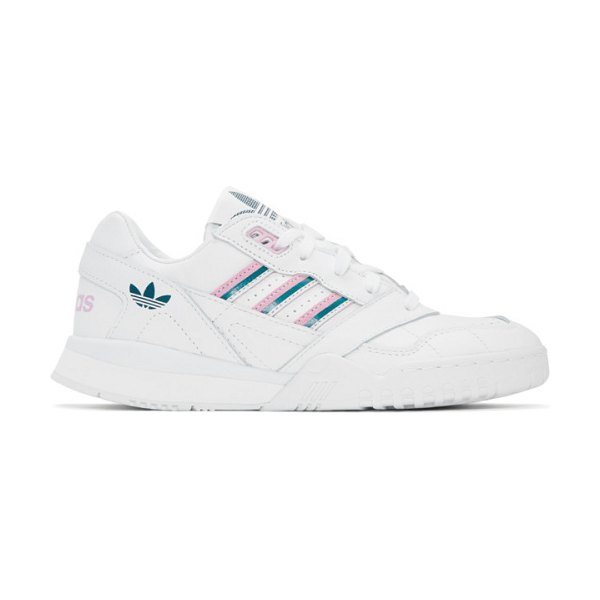 adidas Originals and pink a.r. trainer sneakers in white