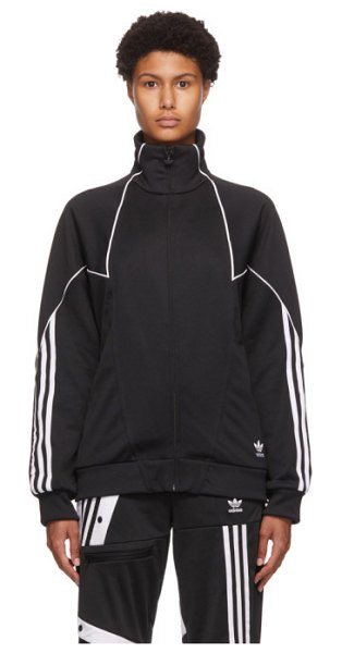 adidas Originals black trefoil abstract track jacket in blk,wh
