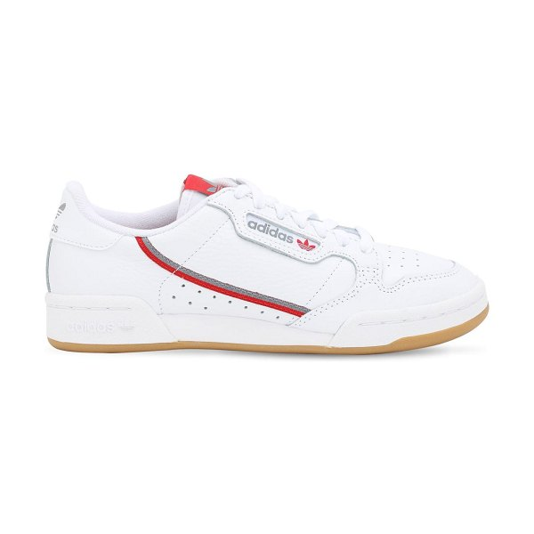 adidas Originals Continental 80s leather sneakers in white,red