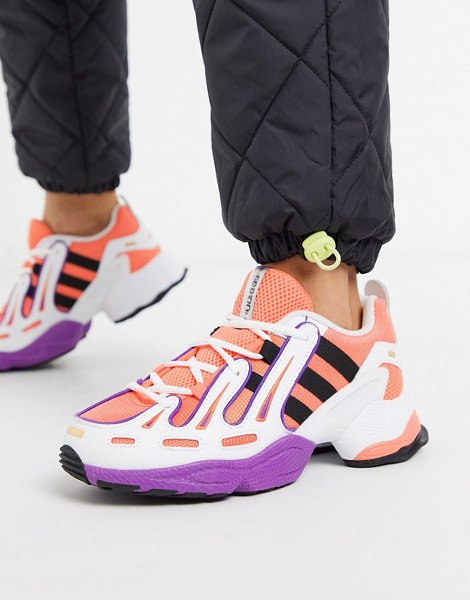 adidas Originals eqt gazelle sneakers in orange and yellow in orange