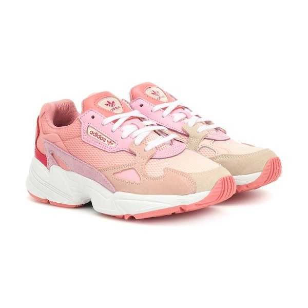 adidas Originals falcon suede-trimmed sneakers in pink
