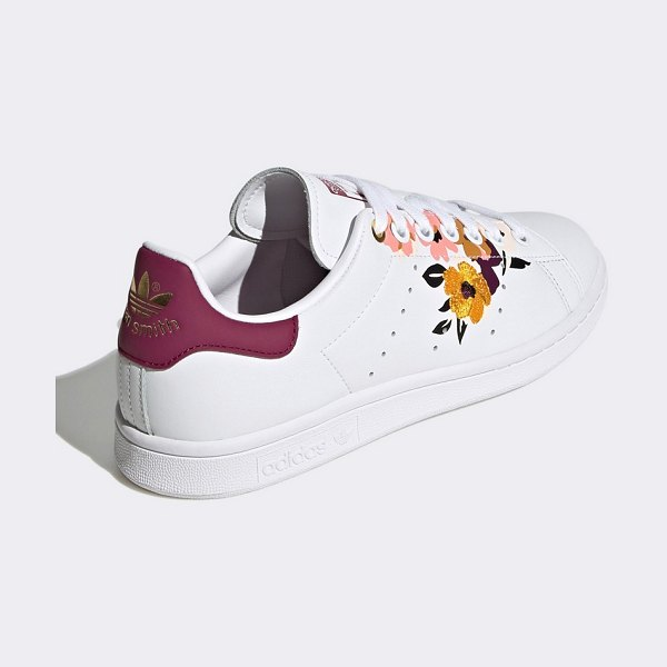 adidas Originals her studio stan smiths in white with floral print in white