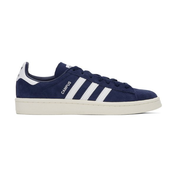 adidas Originals navy nubuck campus sneakers in navy,wh