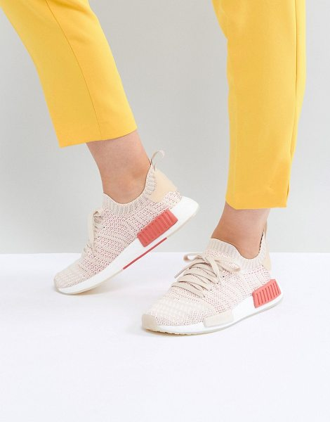 45988edf361b ... Rubber-trimmed Primeknit Sneakers - Mint on feet shots of  adidas  Originals nmd r1 stealth primeknit sneakers in white - Sneakers by adidas