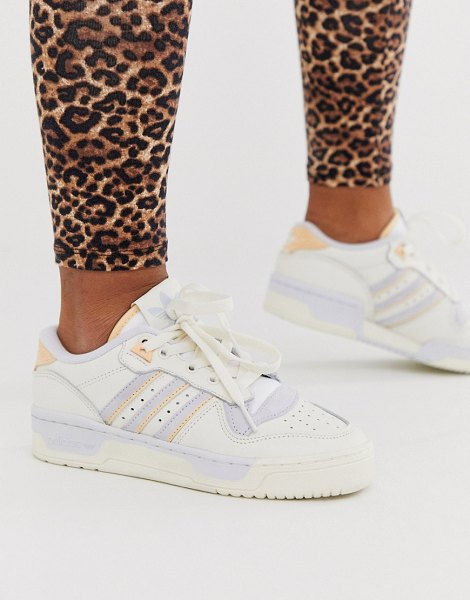 adidas Originals rivalry low sneakers in blue and pink-white in white