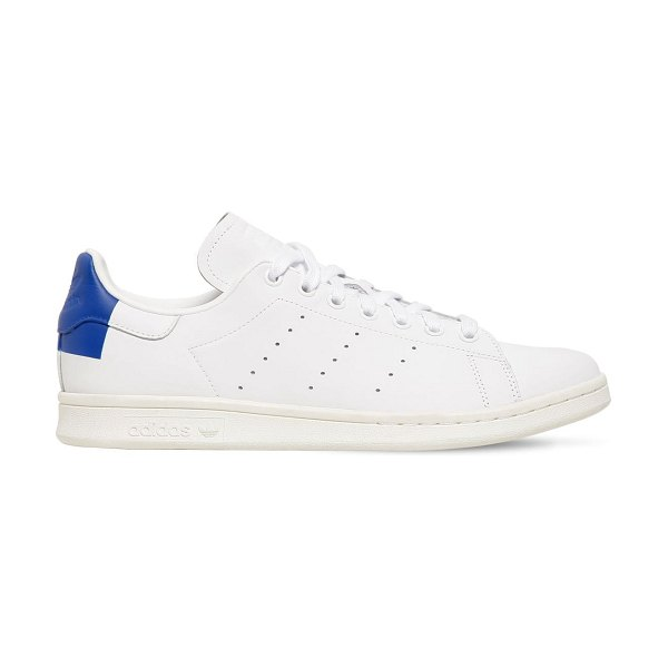 adidas Originals Stan smith leather sneakers in white,blue