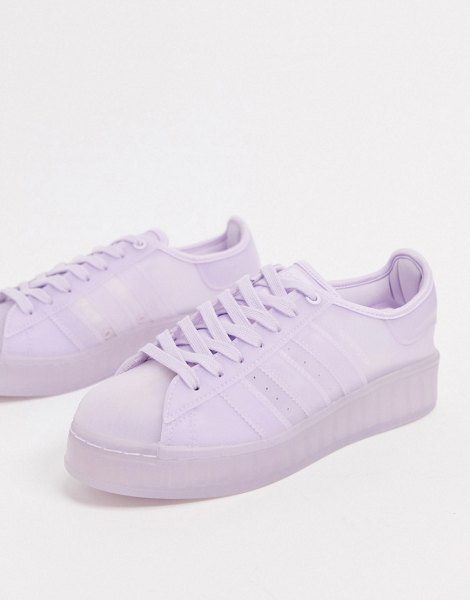 adidas Originals superstar jelly sneakers in purple tint-pink in pink
